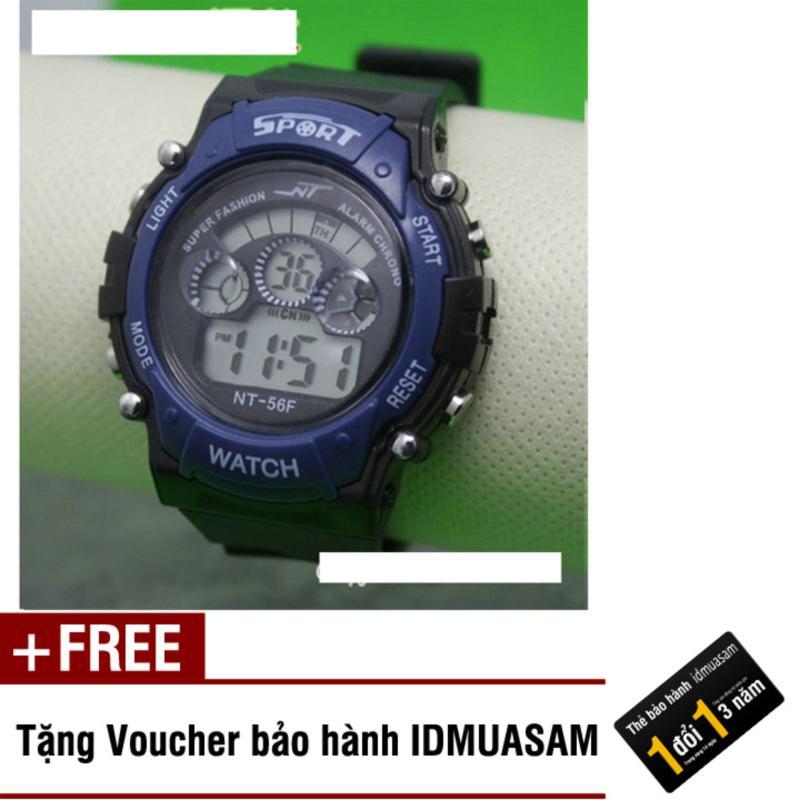 Nơi bán Đồng hồ điện tử trẻ em IDMUASAM 7975 (Xanh dương) + Tặng kèm voucher bảo hành IDMUASAM