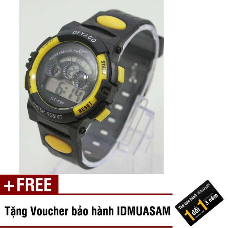 Nơi bán Đồng hồ điện tử trẻ em IDMUASAM 7993 (Vàng) + Tặng kèm voucher bảo hành IDMUASAM