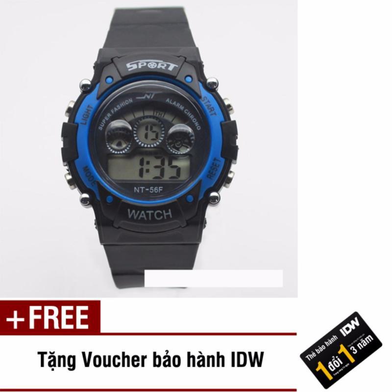 Đồng hồ điện tử trẻ em IDW 7461 (Xanh dương) + Tặng kèm voucher bảo hành IDW bán chạy
