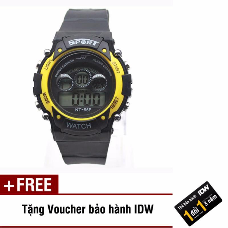 Đồng hồ điện tử trẻ em IDW 7463 (Vàng) + Tặng kèm voucher bảo hành IDW bán chạy