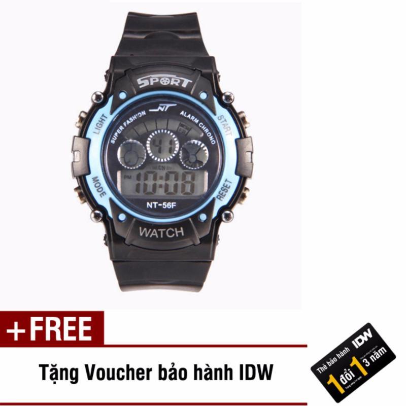 Đồng hồ điện tử trẻ em IDW 7466 (Xanh ngọc) + Tặng kèm voucher bảo hành IDW bán chạy