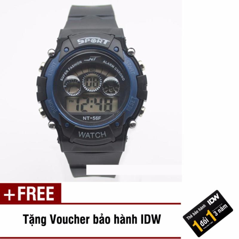 Đồng hồ điện tử trẻ em IDW 7467 (Xanh đen) + Tặng kèm voucher bảo hành IDW bán chạy