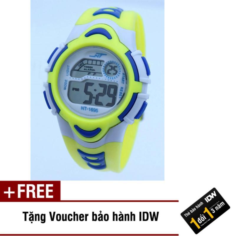 Đồng hồ điện tử trẻ em IDW 7893 (Vàng) + Tặng kèm voucher bảo hành IDW bán chạy