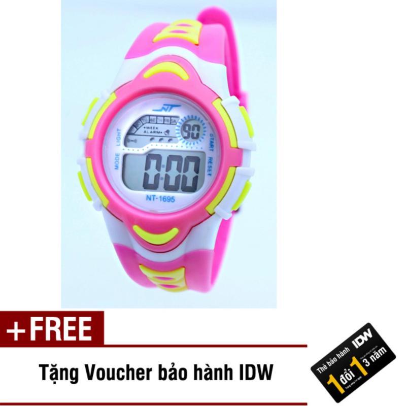 Đồng hồ điện tử trẻ em IDW 7895 (Hồng) + Tặng kèm voucher bảo hành IDW bán chạy