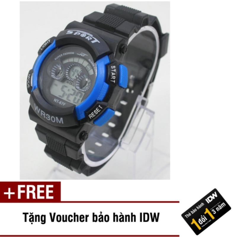 Đồng hồ điện tử trẻ em IDW 7951 (Xanh dương) + Tặng kèm voucher bảo hành IDW bán chạy