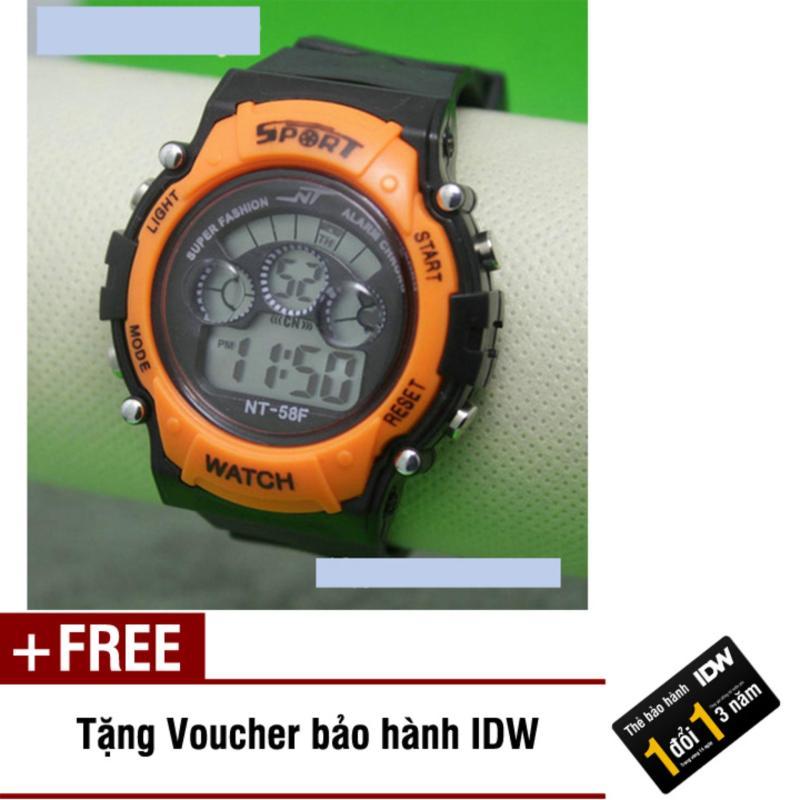 Đồng hồ điện tử trẻ em IDW 7975 (Cam) + Tặng kèm voucher bảo hành IDW bán chạy