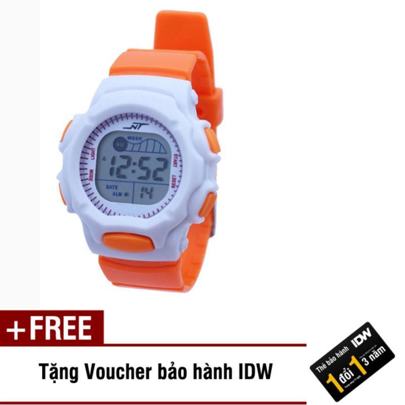 Đồng hồ điện tử trẻ em IDW S0823 (Cam) + Tặng kèm voucher bảo hành IDW bán chạy