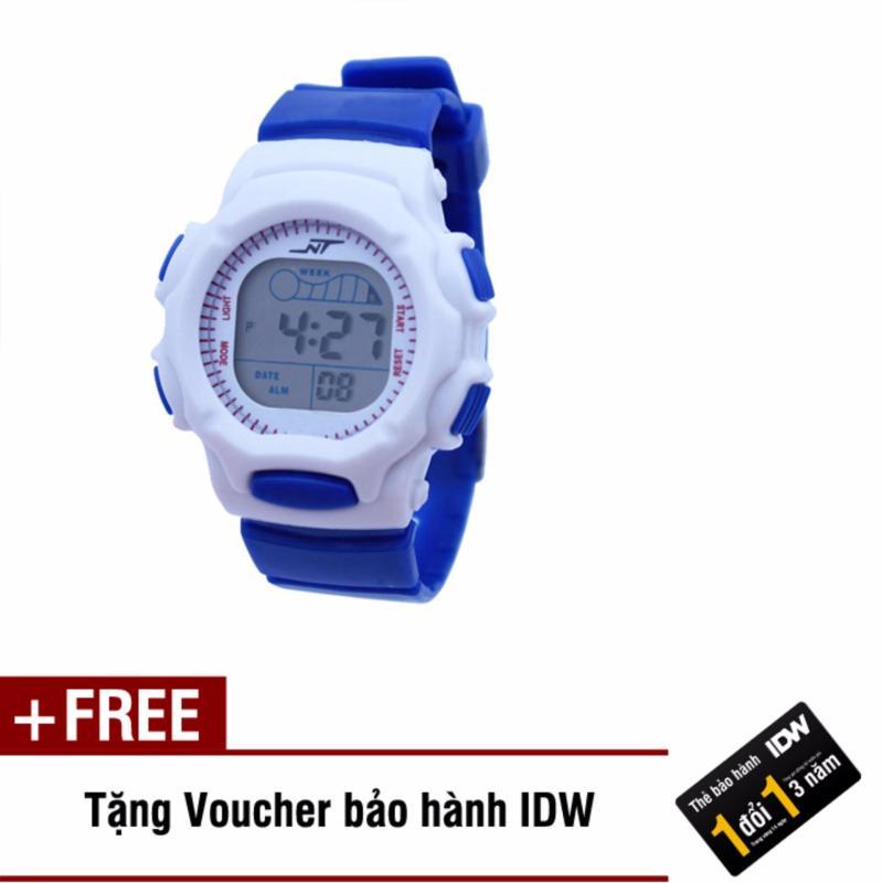 Đồng hồ điện tử trẻ em IDW S0825 (Xanh dương) + Tặng kèm voucher bảo hành IDW bán chạy