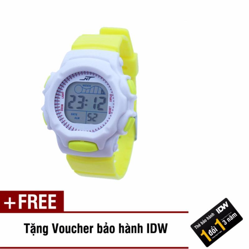 Đồng hồ điện tử trẻ em IDW S0826 (Vàng) + Tặng kèm voucher bảo hành IDW bán chạy