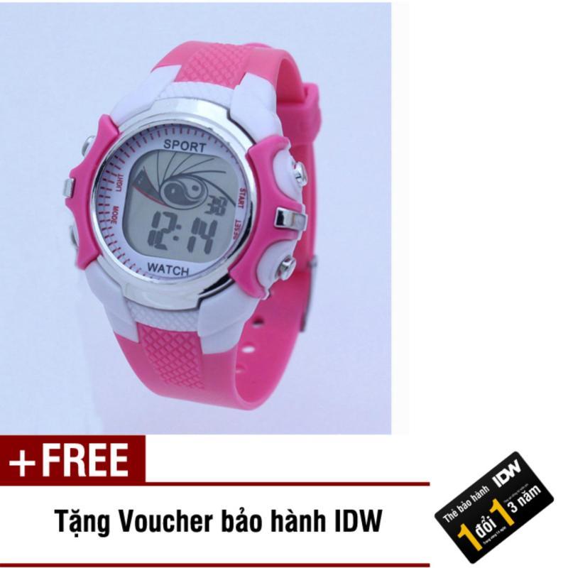 Đồng hồ điện tử trẻ em IDW S0851 (Hồng) + Tặng kèm voucher bảo hành IDW bán chạy