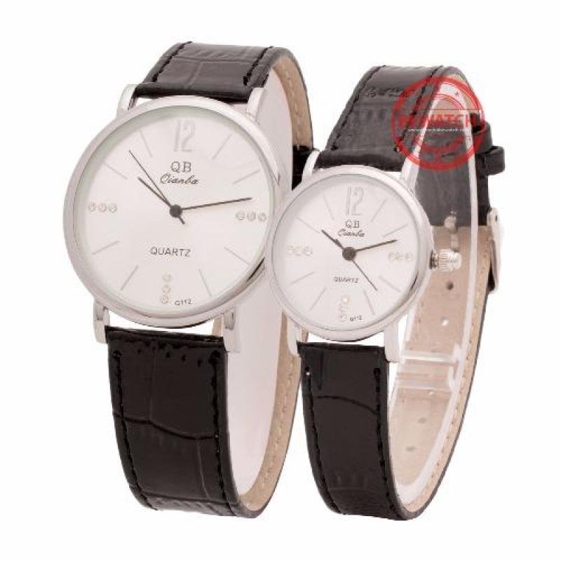 Nơi bán Đồng hồ đôi dây da QBD16 (Đen)
