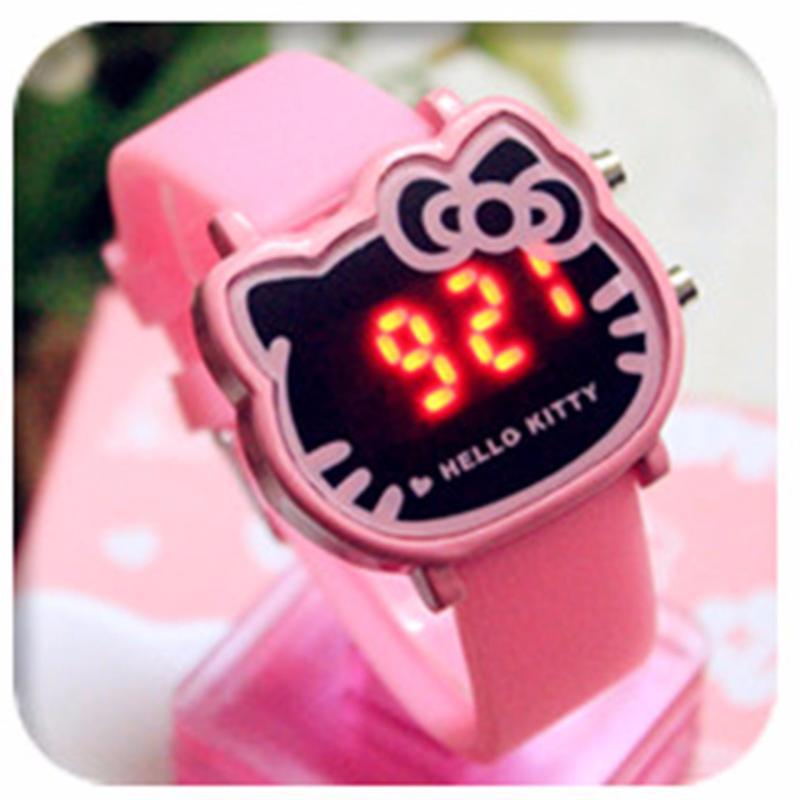 Đồng hồ Helo Kitty, đèn LED đeo tay cho bé gái, phong cách Hàn Quốc ( Hồng ) bán chạy