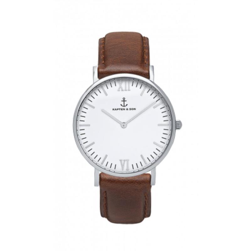 "Nơi bán Đồng Hồ Kapten & Son Campus Silver ""Brown Leather"" (40 mm)"