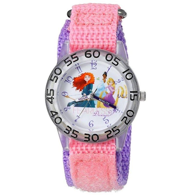 Đồng Hồ Kháng Nước Bé Gái Disney Girl's 'Princess' Fearless Quartz Plastic And Nylon Automatic Watch (Mỹ) bán chạy