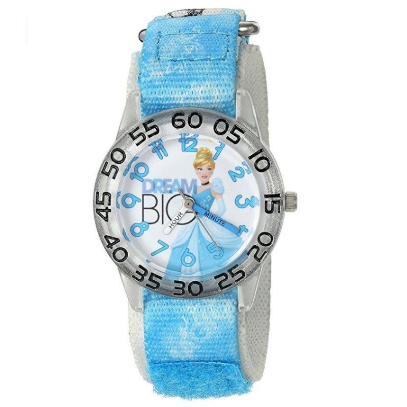 Đồng hồ kháng nước cho bé gái Disney Girl's Cinderella Quartz Plastic and Nylon Automatic Watch (Mỹ) bán chạy
