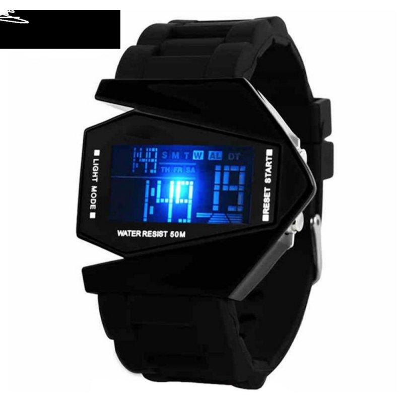 Đồng hồ kiểu siêu nhân dây nhựa (Đen) bán chạy