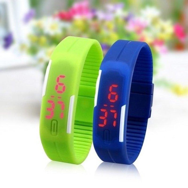 Đồng hồ Led cao su thời trang (Đen) bán chạy