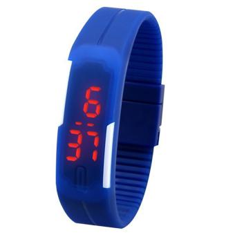 Đồng hồ LED nam thể thao dây dẻo Sport (Xanh dương)