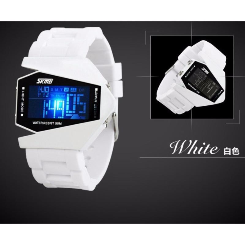 Đồng hồ LED SKMEI trẻ em 0817b màu trắng bán chạy
