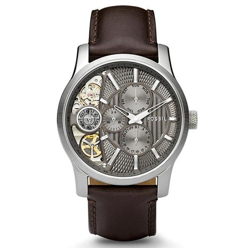 Nơi bán Đồng hồ nam cao cấp dây da Fossil ME1098 (Đen) - Phân phối chính hãng