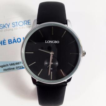 Đồng hồ nam chống nước dây da LONGBO 80263G