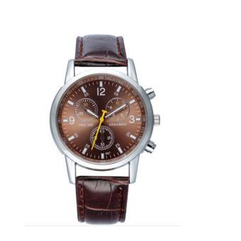 Đồng hồ nam dây da AnCom GL PRC200 (nâu)
