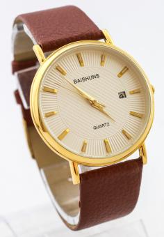 Đồng hồ nam dây da Baishuns SLBS1481
