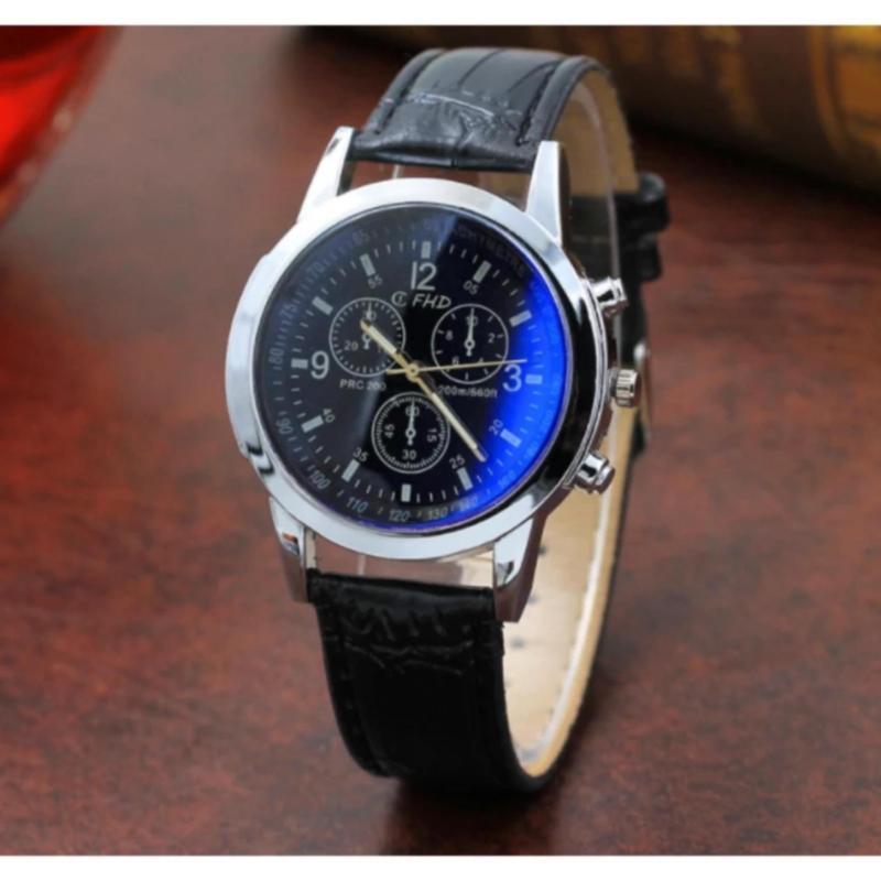 Nơi bán Đồng hồ nam dây da cao cấp s450 (Dây đen mặt xanh)