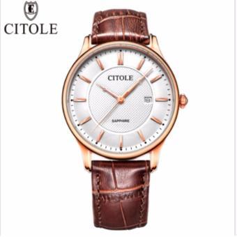 Đồng hồ nam dây da Citole- France cao cấp