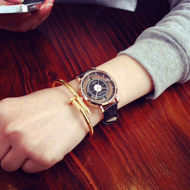 Nơi bán Đồng hồ nam dây da mặt tròn thời trang (Dây đen)