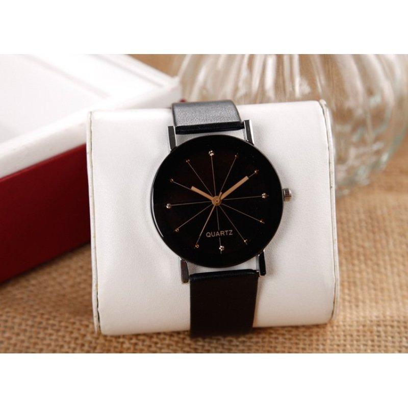 Nơi bán Đồng hồ nam dây da Protab kính 3D SI015 DH25 (Đen kim vàng)