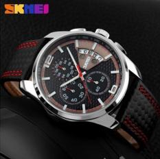 Đồng hồ nam dây da Skmei 9106 (Đỏ).
