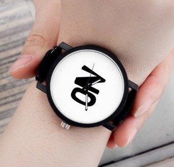 Đồng hồ nam dây da Sport họa tiết chữ No 1 - 3