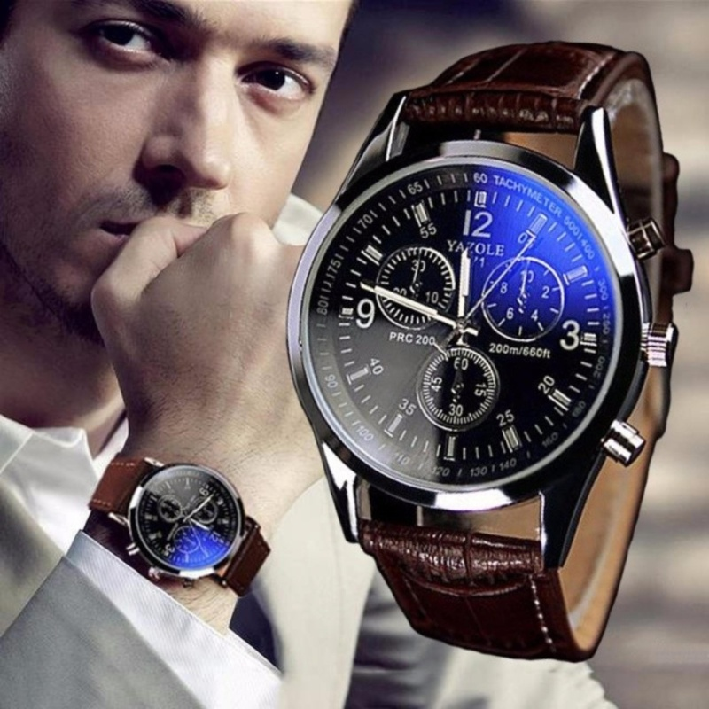 Nơi bán Đồng hồ nam dây da thời trang YZL - MBAC (Nâu)