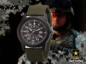 Đồng hồ nam dây dù lính SINO JAPAN MOVT SN9119 (Xanh rêu) - 4