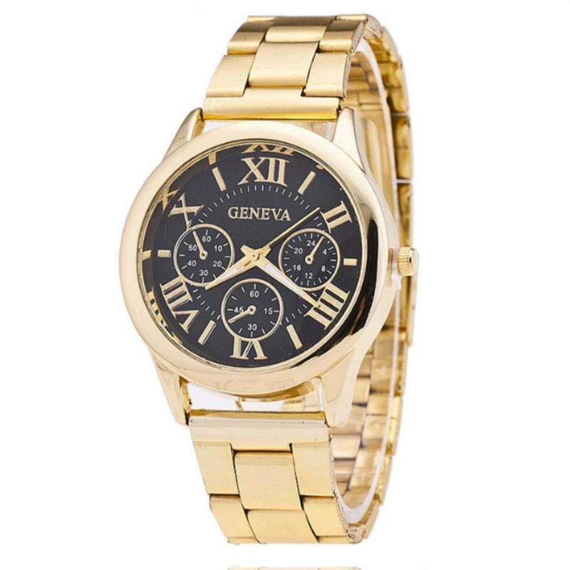 Nơi bán Đồng hồ nam dây hợp kim Geneva GE008-3 (Đen)