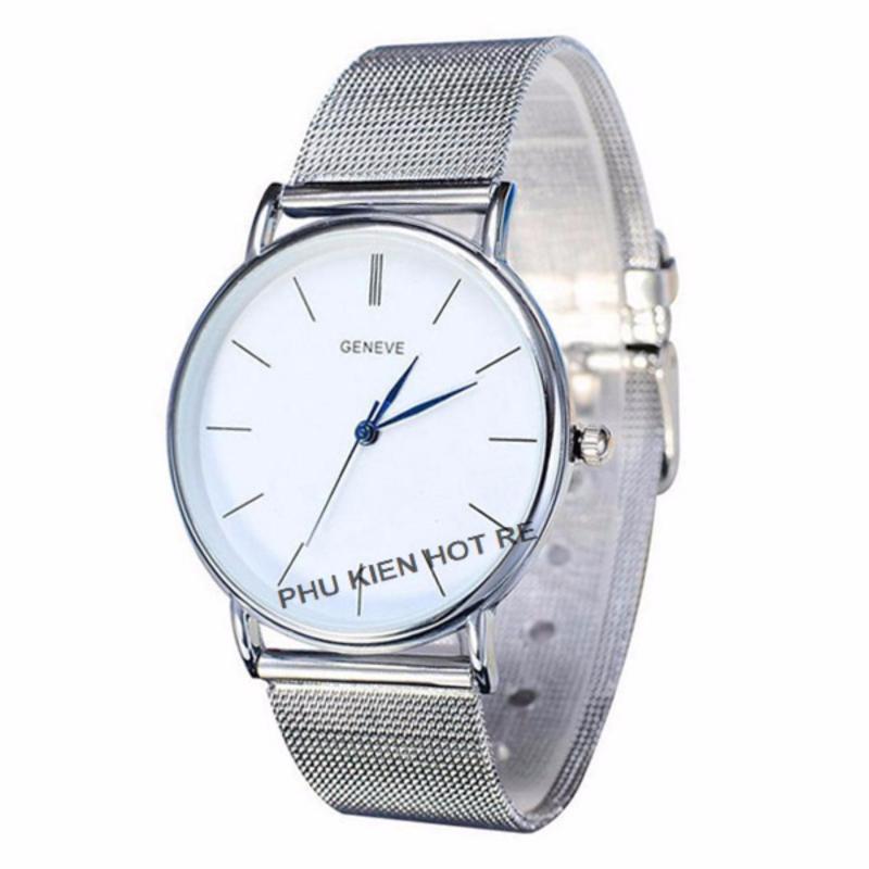 Nơi bán Đồng hồ nam dây hợp kim Geneve G003-3 (Đen xám)