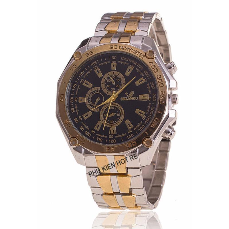 Nơi bán Đồng hồ nam dây hợp kim Orlando PKHROR001-6 (Viền vàng mặt ngà)