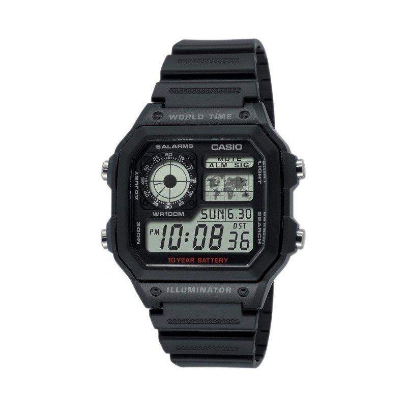 Nơi bán Đồng hồ nam dây nhựa Casio AE-1200WH-1A (Đen)