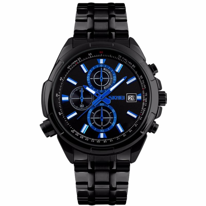Nơi bán Đồng hồ nam dây thép cao cấp SKMEI 9107 SK97D (Đen)