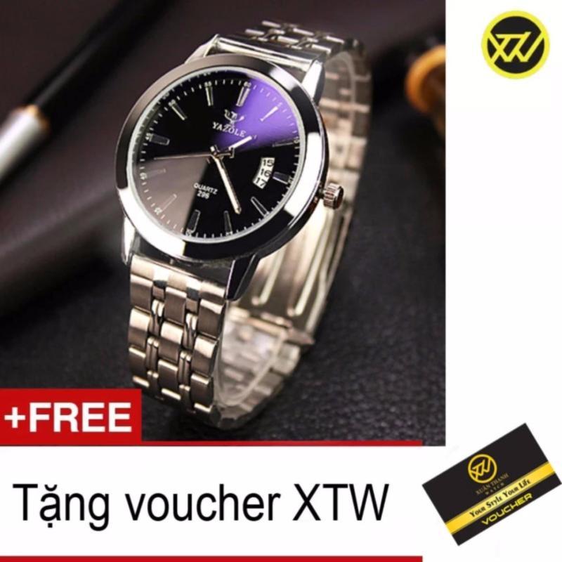 Nơi bán Đồng hồ nam dây thép chống gỉ Yazole ST79 + Tặng kèm Voucher