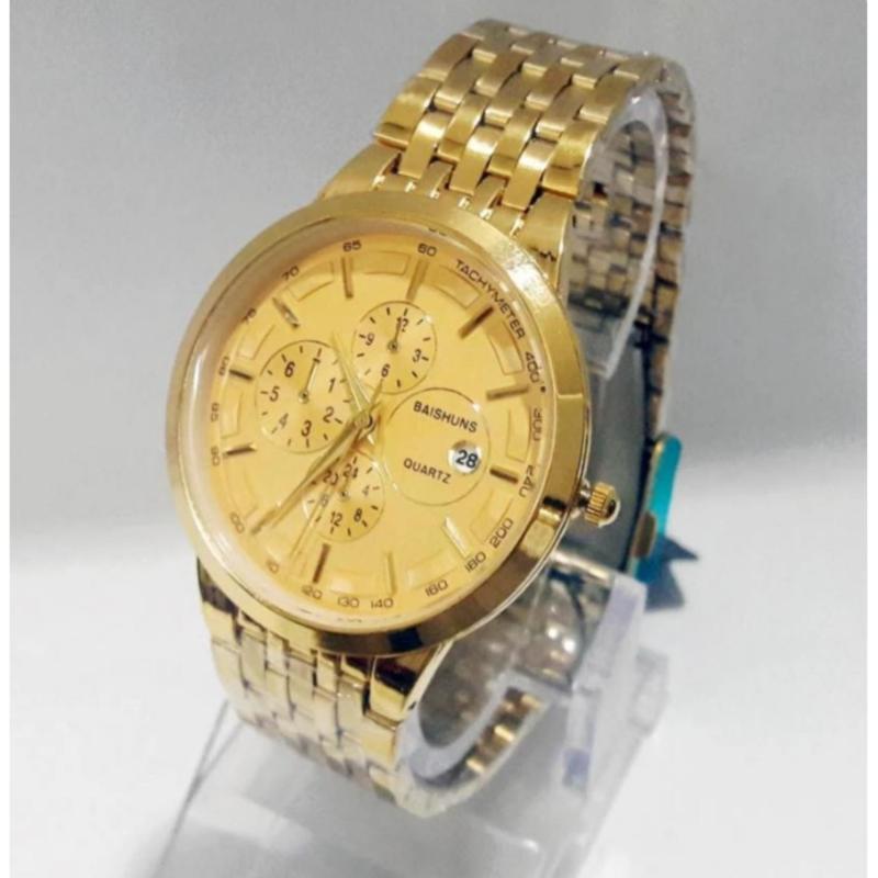 Nơi bán Đồng hồ nam dây thép không gỉ Baishuns BS122 (Mặt Trắng) + Tặng kèm vòng tay tỳ hưu phong thủy