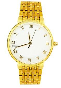 Báo Giá Đồng hồ nam dây thép không gỉ BAISHUNS C0052 (Vàng)