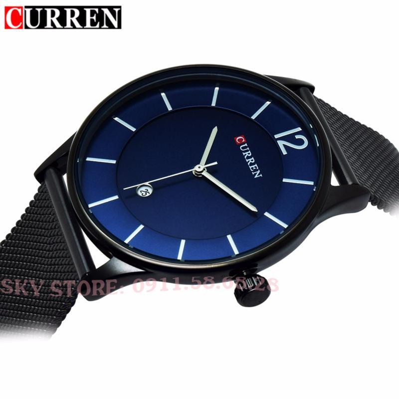 Nơi bán Đồng hồ nam dây thép không gỉ cao cấp CURREN 8231 (Mặt xanh)