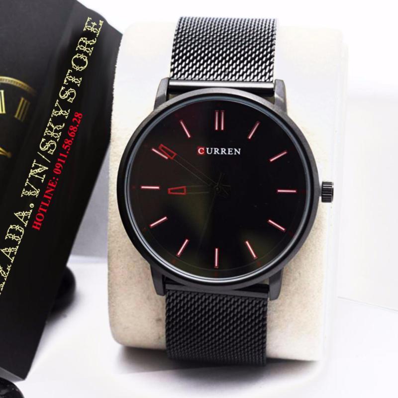 Nơi bán Đồng hồ nam dây thép không gỉ cao cấp CURREN CU442R ( Mặt đen kim đen )