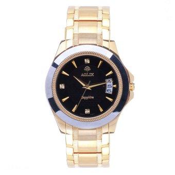 Đồng hồ nam dây thép không gỉ kính Sapphire Aolix 9067M (Vàng)