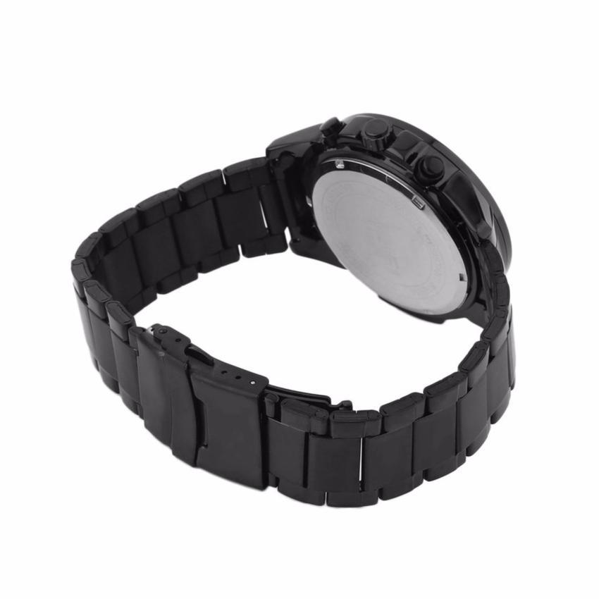 Đồng hồ nam dây thép không gỉ SKMEI 9108 chạy Full 06 kim (Đen mặt đen)