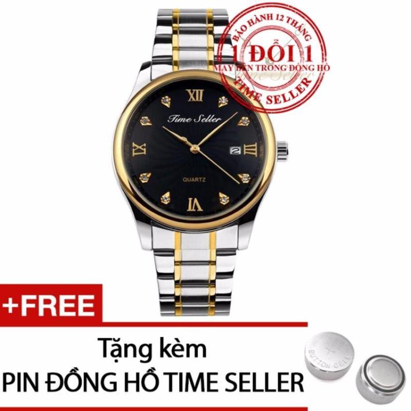 Nơi bán Đồng hồ nam dây thép Time Seller 9101 + Tặng kèm 01 Pin Time Seller
