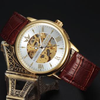 Đồng hồ nam máy cơ không dùng pin SEWOR (Vàng)