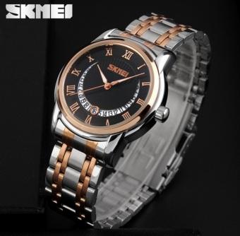 Đồng hồ nam thép không gỉ SKMEI 9122 (Đen)